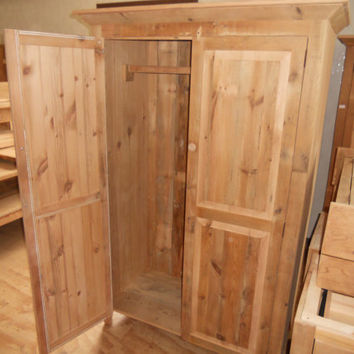Reclaimed Barn Wood Furniture Wardrobe Armoire TV Cabinet
