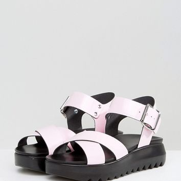 ASOS FIND ME Chunky Flat Sandals at asos.com