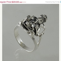 Idol Lord Ganesha 925 Sterling Silver Ring,