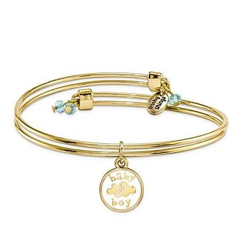 Gold-Tone Trinky Things Baby Boy A New Baby Bracelet/Card