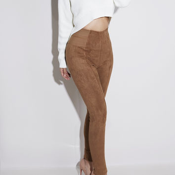Fit the Mark Camel Suede Leggings