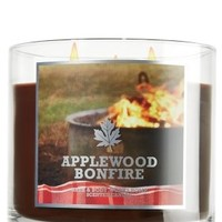 1 X Bath and Body Works Applewood Bonfire Candle 14.5 Oz