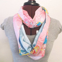 Disney Princesses & Satin Infinity Scarf