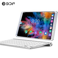 New System 10.1 inch Tablet PC 3G/4G Phone Call Android 7.0 Wi-Fi Bluetooth 6GB/128GB Octa Core Dual SIM Support Tablet+keyboard