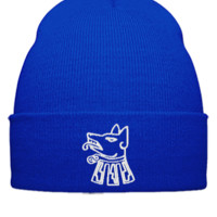 dog escodo de ciudad neza embroidery - Beanie Cuffed Knit Cap