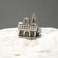 Beau Sterling Church Charm Chapel Vintage Jewelry