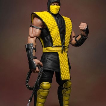 Scorpion - Deluxe Blood Splatter Edition 1/12 Scale Figure - Mortal Kombat