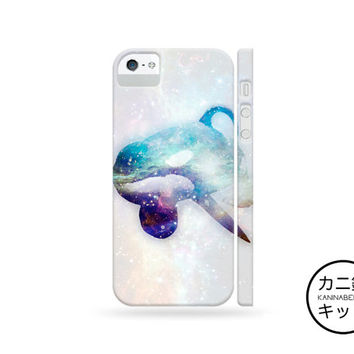 Orca Whale Nebula Design Case「 iPhone 6 5 5S 5C 4 4S iPod Touch Nano 7 Galaxy S5 S4 S3 Note 1 2 3 」