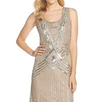 Women's Adrianna Papell Embellished Mesh Sheath Dress,