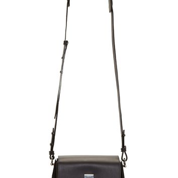 Proenza Schouler Black Leather And Suede Mini Elliot Box Bag