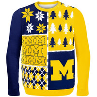 Michigan Wolverines Busy Block Ugly Sweater – Maize