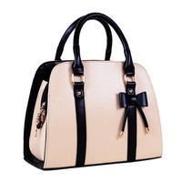 VonFon Female Bag Work Place Ms.Bow Bag White