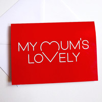 Mothers Day Card, Mum card, Mom birthday card, Mom card, Mummy card, Happy Birthday Mum, Lovely Mum card, Mother card, Thanks Mum card