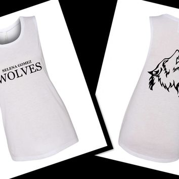 "Selena Gomez ""Wolves"" / Wolf Back Muscle Tee"