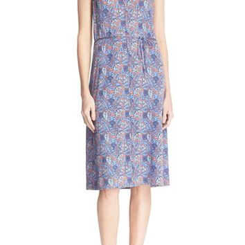 Tory Burch 'Sandy' Floral Print Silk Shift Dress | Nordstrom