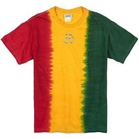 Yoga Clothing for You Mens Hindu Patch Tee Shirt - Middle Print