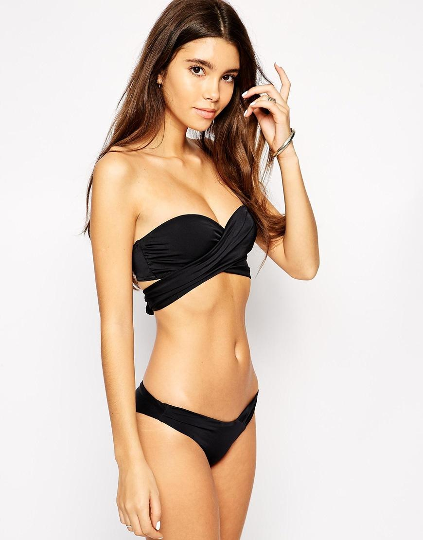 Asos Cross Wrap Bandeau Bikini Top From Asos �� Clothes