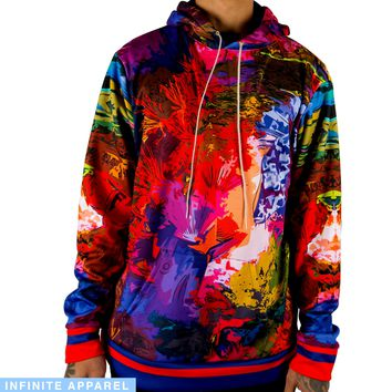 Psychedelic Fish Pull Over Hoodie