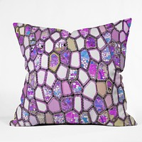 Ingrid Padilla Violet Cells Throw Pillow