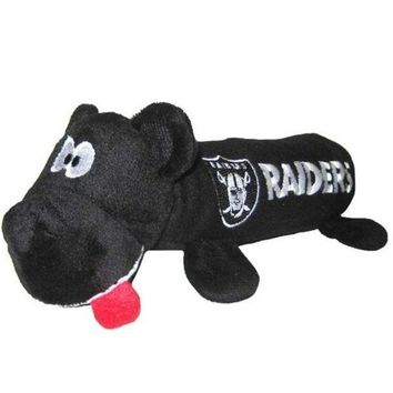 ICIKOP9 Oakland Raiders Plush Tube Pet Toy