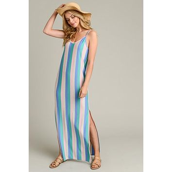 Chasing Rainbows Cami Style Maxi Dress