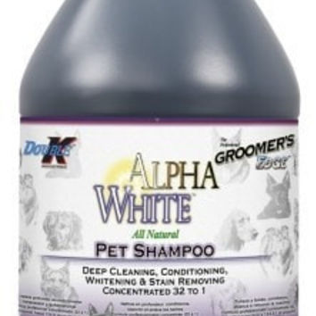 DOG GROOMING - SHAMPOOS & SOAP - GROOMERS EDGE ALPHA WHITE SHAMPOO - 1 GALLON - DOUBLE K INDUSTRIES - UPC: 608283124002 - DEPT: DOG PRODUCTS