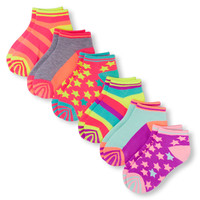 Girls Mixed Print Ankle Socks 6-Pack | The Children's Place