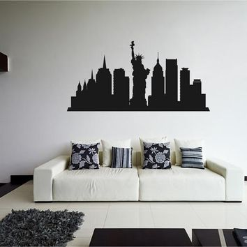 ik2373 Wall Decal Sticker city New York United States living room bedroom panorama