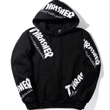 THRASHER Print casual fashion round collar sweater thickening sweater G-A-GHSY-1
