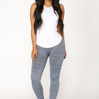 Hold On Tight Seamless Leggings - Black/Blue