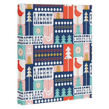 Heather Dutton Christmas Collage Chill Art Canvas