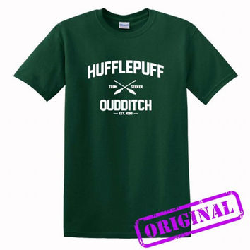 Hufflepuff Quidditch for shirt forest green, tshirt forest green unisex adult
