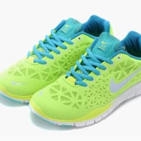 """NIKE"" Women's Trending Fashion Casual Fluorescent Green Sports Shoes"
