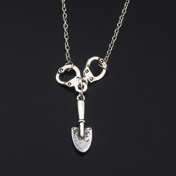 Fashion Pretty Little Liars men and women Charm Necklace antique silver Jewelry