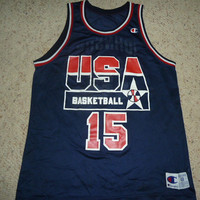 Vtg Magic Johnson USA Dream Team Olympics Lakers Champion Jersey Sz Men's 48 XL