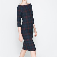 FITTED CHECKED DRESS