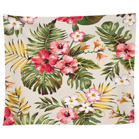 Tropical Flowers Tapestry