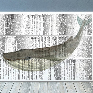 Whale decor Marine poster Beach house print Watercolor print RTA2007