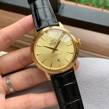Omega Ladies Men Women Quartz Watches Business Wrist Watch