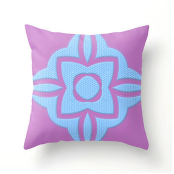Radiant Orchid and Placid Blue Celtic Design Pillows - pillow covers home decor novelty pillows accent cushions throw pillows
