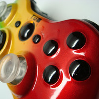 Rasta Style Custom Xbox Controller Hand Airbrushed by by ProModz