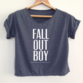 "CROP Fall out boy shirt FOB shirt Fall out boy tunic Women""s clothing Size S"