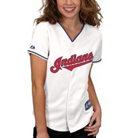 Majestic Cleveland Indians Ladies Replica Jersey - White