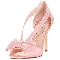 David's Bridal Strappy Bow Two-Piece Pumps Style Maja