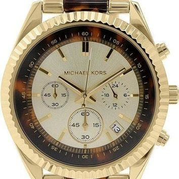 Michael Kors MK5963 Clarkson Chronograph Women's Tortoise Gold Watch