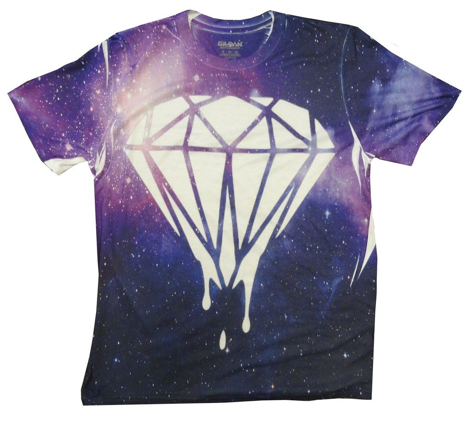 Bewild brand all over printed galaxy from amazon unff for Wholesale diamond supply co shirts