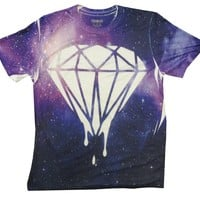 BeWild Brand® - All Over Printed Galaxy Diamond Drip Men's T-Shirt