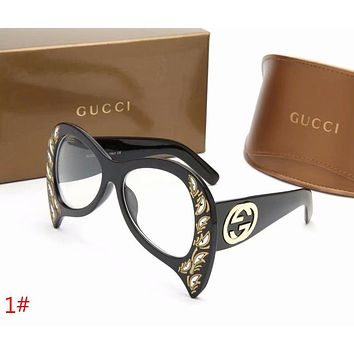 GUCCI New Trending Women Men Stylish Summer Style Sun Shades Eyeglasses Glasses Sunglasses 1# I-ZXJ