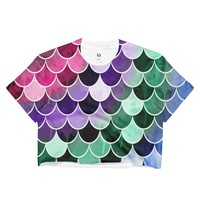Mermaid colors Ladies Crop Top