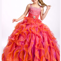 Tank Strap And Beaded Bodice Perfect Angels Pageant Dress 1477